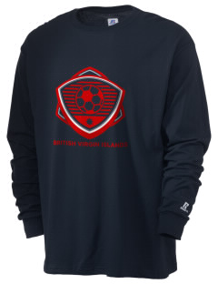 British Virgin Islands Soccer  Russell Men's Long Sleeve T-Shirt