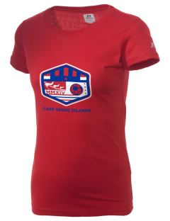 Cape Verde Islands Soccer  Russell Women's Campus T-Shirt