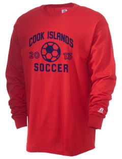 Cook Islands Soccer  Russell Men's Long Sleeve T-Shirt