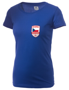 Czech Republic Soccer  Russell Women's Campus T-Shirt
