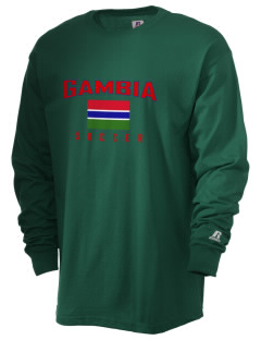 Gambia Soccer  Russell Men's Long Sleeve T-Shirt