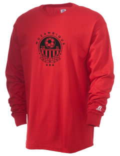 Mozambique Soccer  Russell Men's Long Sleeve T-Shirt
