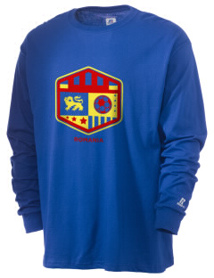 Romania Soccer  Russell Men's Long Sleeve T-Shirt