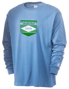San Marino Soccer  Russell Men's Long Sleeve T-Shirt