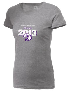 Mitchell Elementary School Sharks  Russell Women's Campus T-Shirt