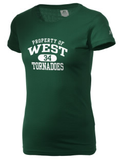 West Elementary School tornadoes  Russell Women's Campus T-Shirt
