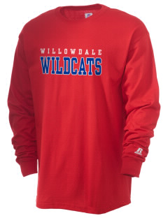 Willowdale Elementary School Wildcats  Russell Men's Long Sleeve T-Shirt