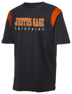 Justus Gage Elementary School Chiefains Holloway Men's Rush T-Shirt