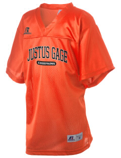 Justus Gage Elementary School Chiefains Russell Kid's Replica Football Jersey