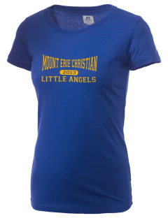 Mount Erie Christian Academy Little Angels  Russell Women's Campus T-Shirt