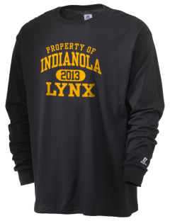 Indianola Junior High School Lynx  Russell Men's Long Sleeve T-Shirt