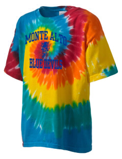 Monte Alto Junior High School Blue Devils Kid's Tie-Dye T-Shirt