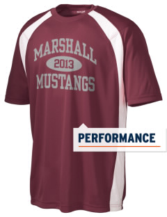 Marshall Middle School Mustangs Men's Dry Zone Colorblock T-Shirt