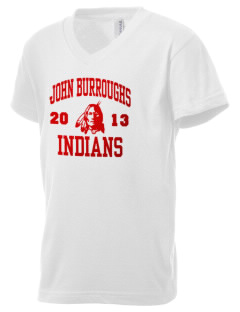 John Burroughs High School Indians Kid's V-Neck Jersey T-Shirt