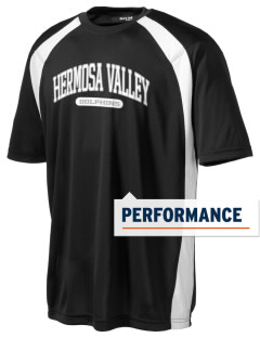 Hermosa Valley School Dolphins Men's Dry Zone Colorblock T-Shirt