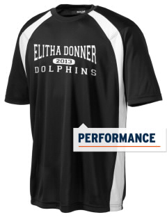 Elitha Donner Elementary School Dolphins Men's Dry Zone Colorblock T-Shirt