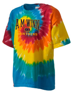 A M Winn Elementary School Panthers Kid's Tie-Dye T-Shirt