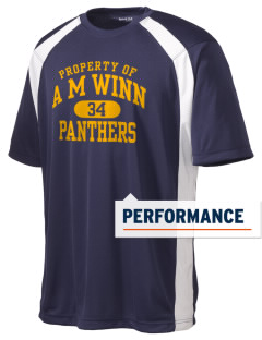 A M Winn Elementary School Panthers Men's Dry Zone Colorblock T-Shirt