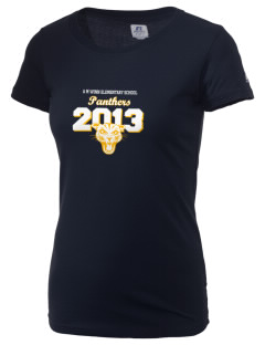 A M Winn Elementary School Panthers  Russell Women's Campus T-Shirt