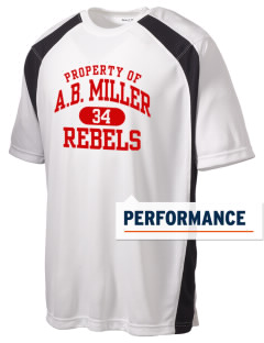 A.B. Miller High School Rebels Men's Dry Zone Colorblock T-Shirt