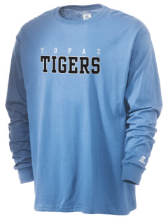 Topaz Elementary School Tigers  Russell Men's Long Sleeve T-Shirt