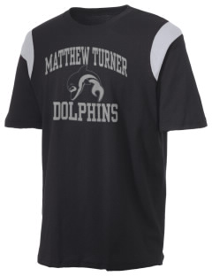 Matthew Turner Elementary School Dolphins Holloway Men's Rush T-Shirt