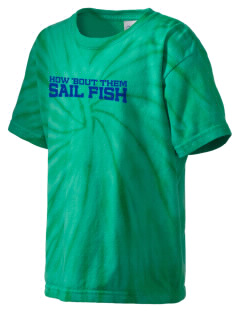Felix A Williams Elementary School Sail Fish Kid's Tie-Dye T-Shirt