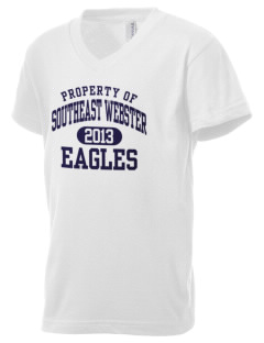Southeast Webster Middle School Eagles Kid's V-Neck Jersey T-Shirt