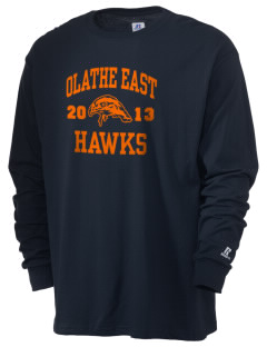 Olathe East High School Hawks  Russell Men's Long Sleeve T-Shirt