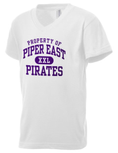 Piper East Elementary School Pirates Kid's V-Neck Jersey T-Shirt