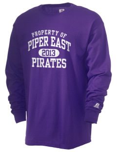 Piper East Elementary School Pirates  Russell Men's Long Sleeve T-Shirt