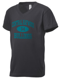 Central Haywood High School Bulldogs Kid's V-Neck Jersey T-Shirt