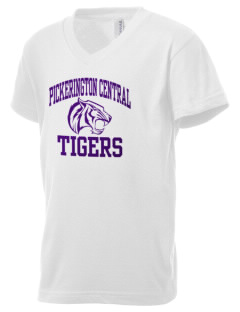 Pickerington Central High School Tigers Kid's V-Neck Jersey T-Shirt