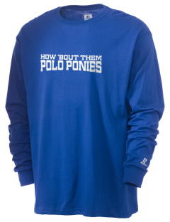 Chukker Creek Elementary School Polo Ponies  Russell Men's Long Sleeve T-Shirt