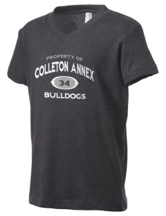 Colleton Middle School Annex Bulldogs Kid's V-Neck Jersey T-Shirt