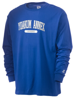 Yoakum Primary Annex School Stars  Russell Men's Long Sleeve T-Shirt