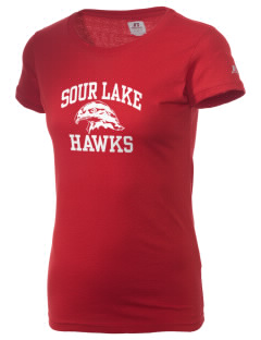 Sour Lake Elementary School Hawks  Russell Women's Campus T-Shirt