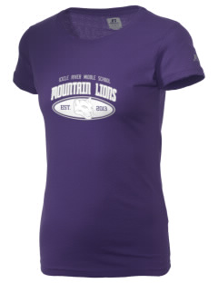 Icicle River Middle School Mountain Lions  Russell Women's Campus T-Shirt