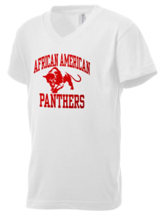 African American Academy Panthers Kid's V-Neck Jersey T-Shirt