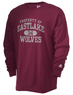 Eastlake High School Wolves  Russell Men's Long Sleeve T-Shirt