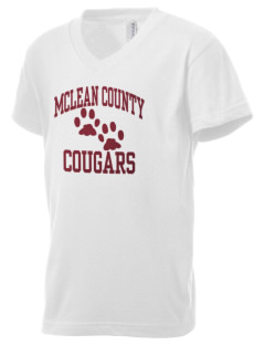 McLean County Middle School Cougars Kid's V-Neck Jersey T-Shirt