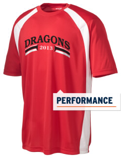 Kingsway Middle School Dragons Men's Dry Zone Colorblock T-Shirt