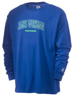 James Workman Middle School Bighorns  Russell Men's Long Sleeve T-Shirt