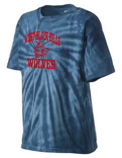 West Black Hills High School Wolves Kid's Tie-Dye T-Shirt