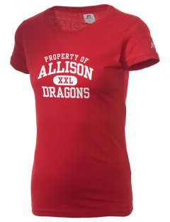 Allison Elementary School Dragons  Russell Women's Campus T-Shirt