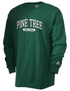 Pine Tree Elementary School Falcons  Russell Men's Long Sleeve T-Shirt