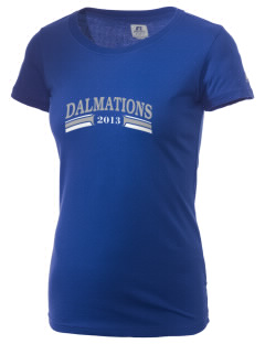 Dollahan Elementary School Dalmations  Russell Women's Campus T-Shirt