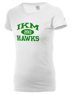 IKM Middle School Hawks  Russell Women's Campus T-Shirt