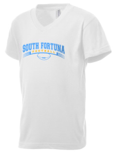 South Fortuna Elementary School Dragons Kid's V-Neck Jersey T-Shirt