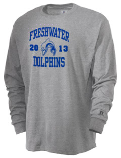 Freshwater Elementary School Dolphins  Russell Men's Long Sleeve T-Shirt